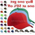 Baseball Cap Plain Blank Strapback Adjustable Solid Hat Polo