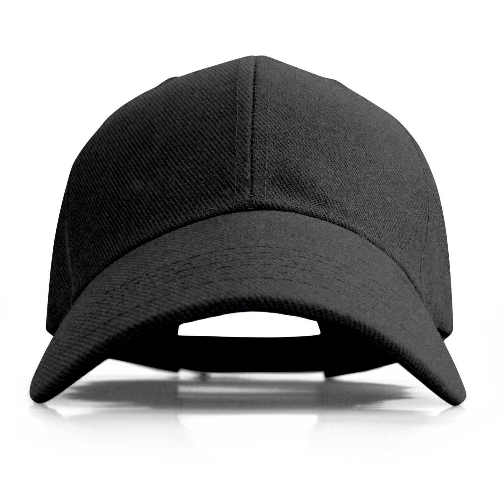 Plain Baseball Cap Solid Color Blank Curved Visor Hat Adjustable New
