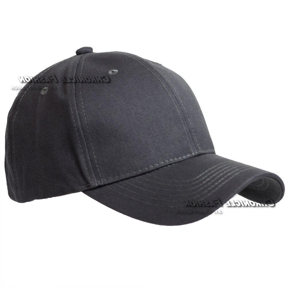 Baseball Plain Curved Visor Hat Blank Caps Hats Mens