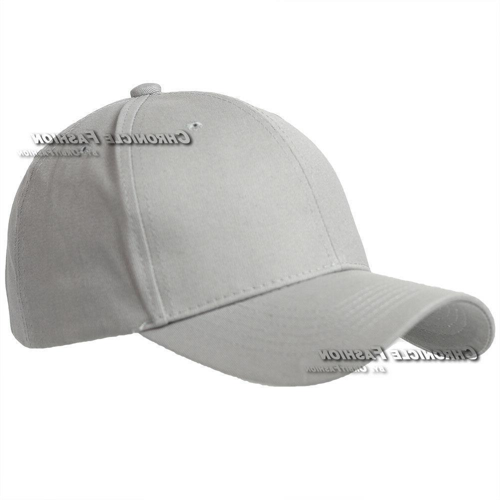 Curved Blank Plain Caps Mens