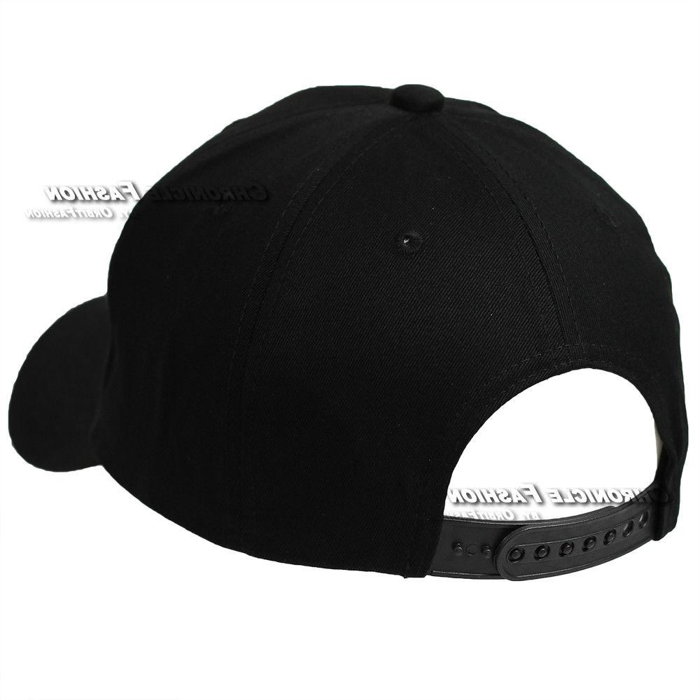 Baseball Plain Snapback Curved Visor Hat Blank Mens