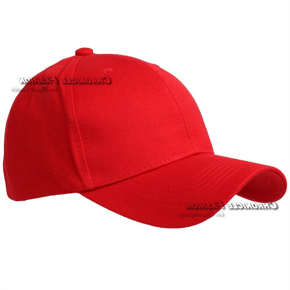 Baseball Cap Plain Curved Blank Plain Mens