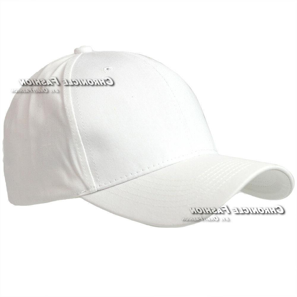 Baseball Cap Plain Curved Visor Blank Mens