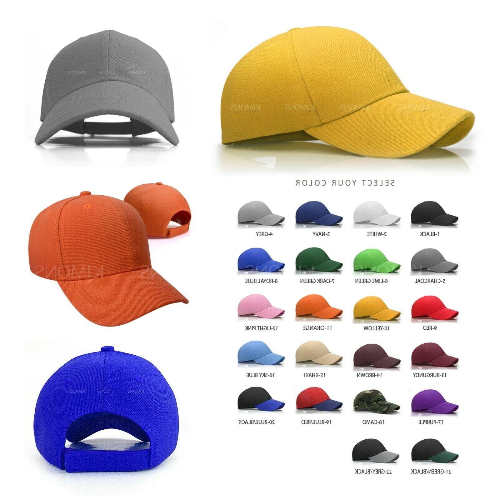 Plain Baseball Color Blank Curved Hat Women loop