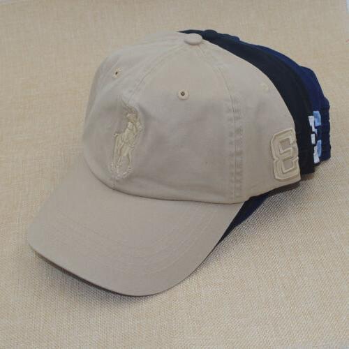 POLO RL Big Pony Baseball Cap Golf Soccer Hat Unisex Classic
