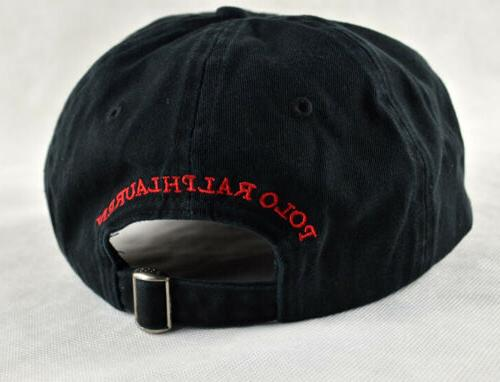 Polo Baseball Cap Embroidery Black Hat Mens Unisex Adjustable