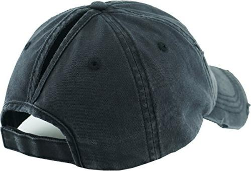 PONY-001 Messy High Bun Adjustable Baseball Cap