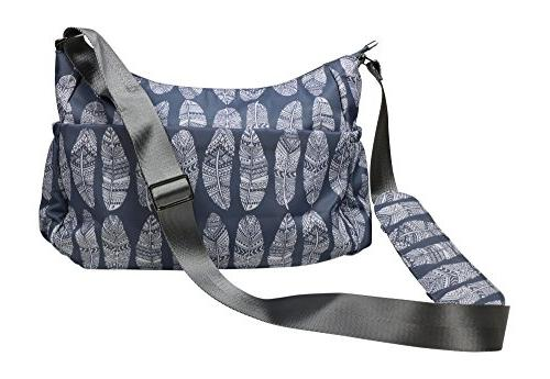 purse diaper bag gray nylon
