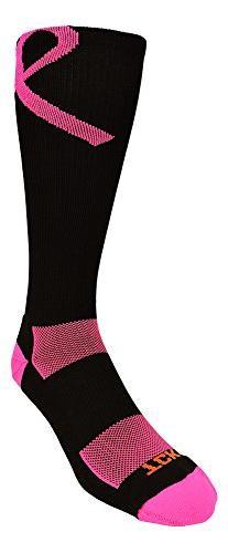 TCK Pink Ribbon Awareness Over the Calf Socks