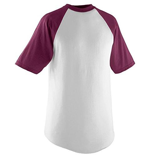 short sleeve baseball jersey l