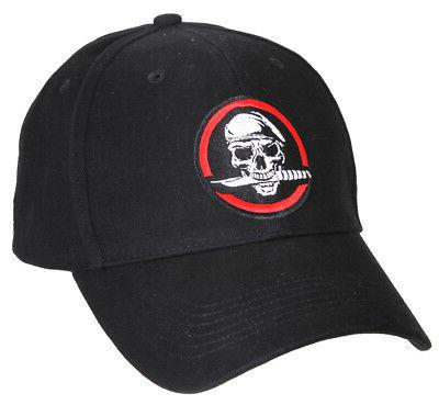NEW Rothco Skull / Knife Deluxe Low Profile Insignia Basebal
