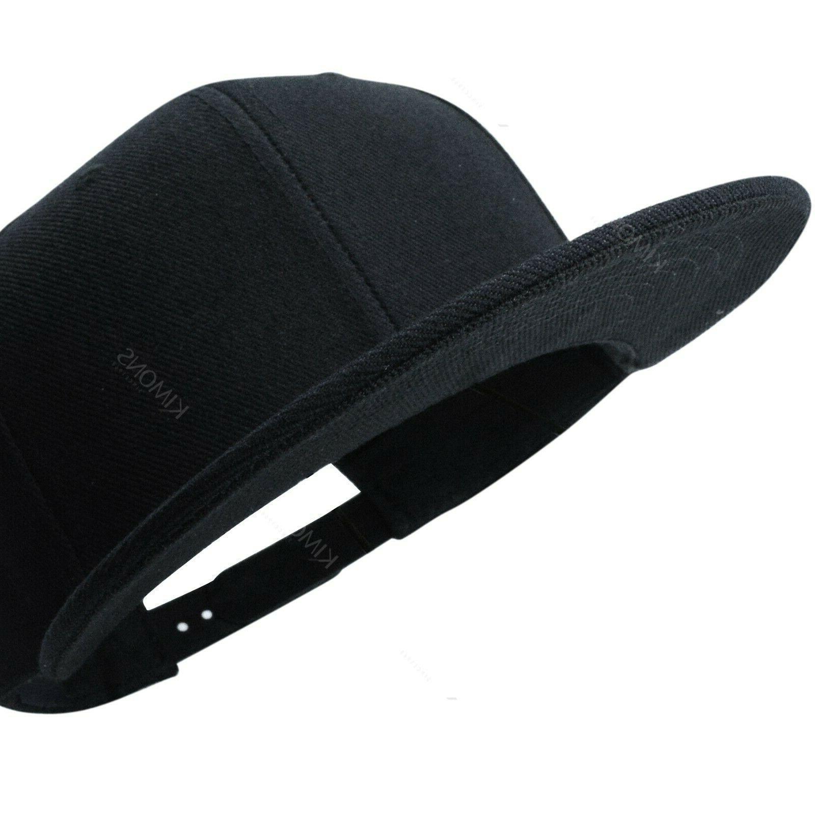 Snapback Hat Baseball Flat Blank Hop Adjustable