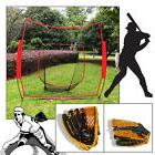 7'x7' Soft Toss Practice Net Screen Baseball Softball w/ Lef
