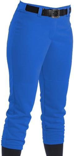 Alleson Women's Softball Pants With Belt Loops, Royal Blue,