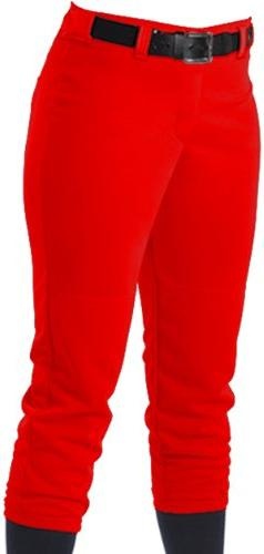 Alleson Women's Softball Pants With Belt Loops, Scarlet, XS