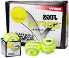 "JUGS 12"" SOFTIE Fastpitch Leather Softball Training Ball, 1"