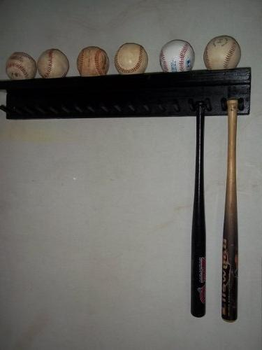 solid wood baseball mini rack