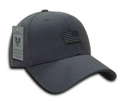 structured rubber usa flag baseball cap hat