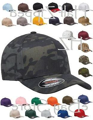 structured twill fitted cap baseball hat 6277