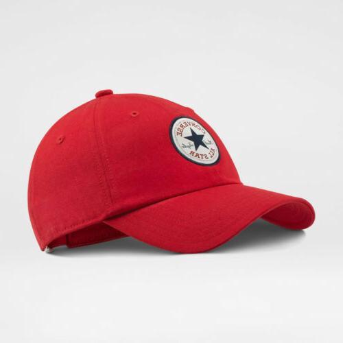 tipoff chuck baseball strapback cap hat red