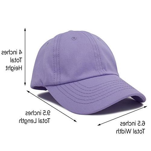 DALIX Girls Baseball Hat Lavender