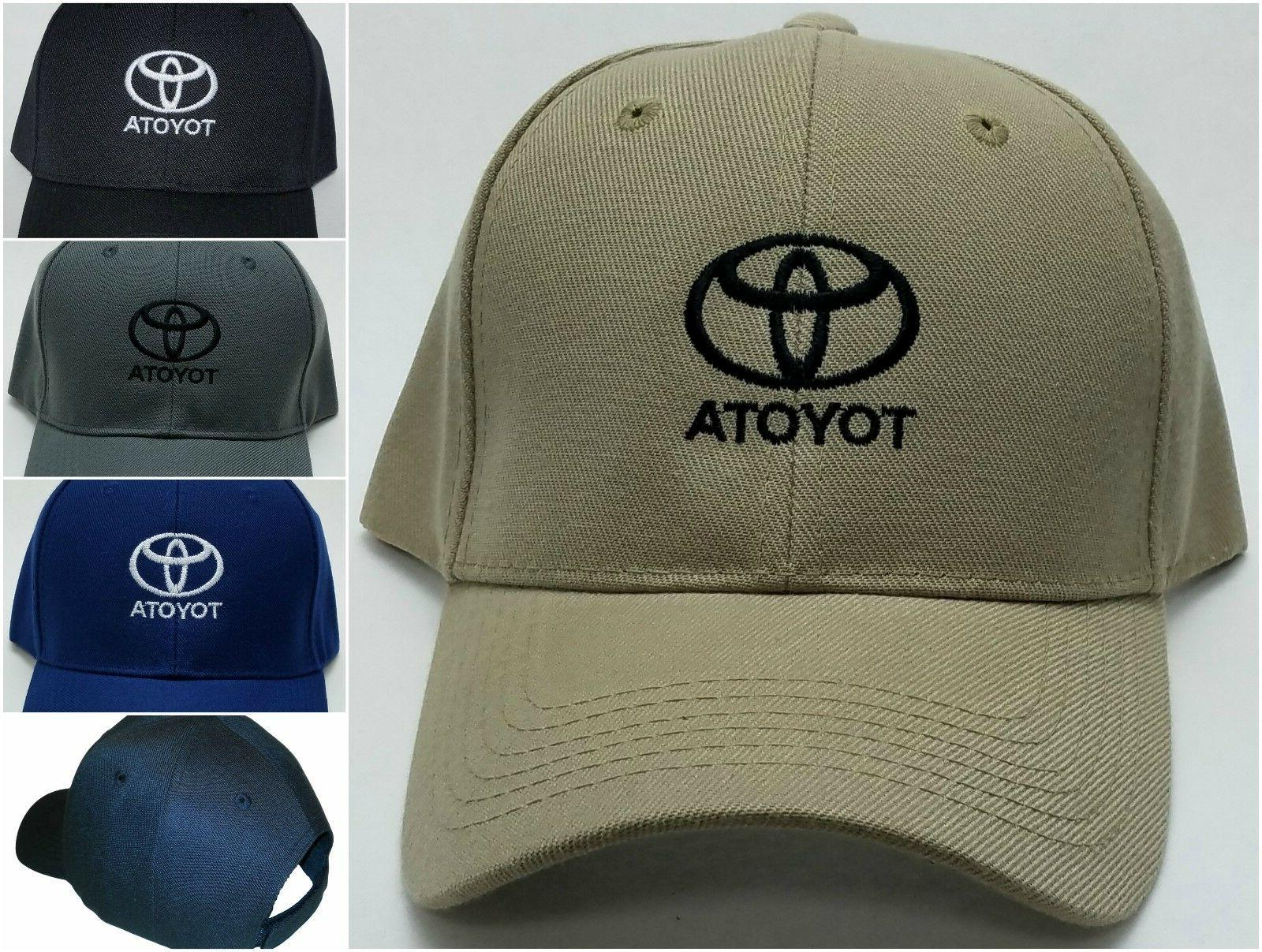 toyota embroidered baseball hat cap adjustable strap