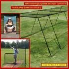 35' Trapezoid Baseball Batting Cage Frame w/Net, L-Screen an