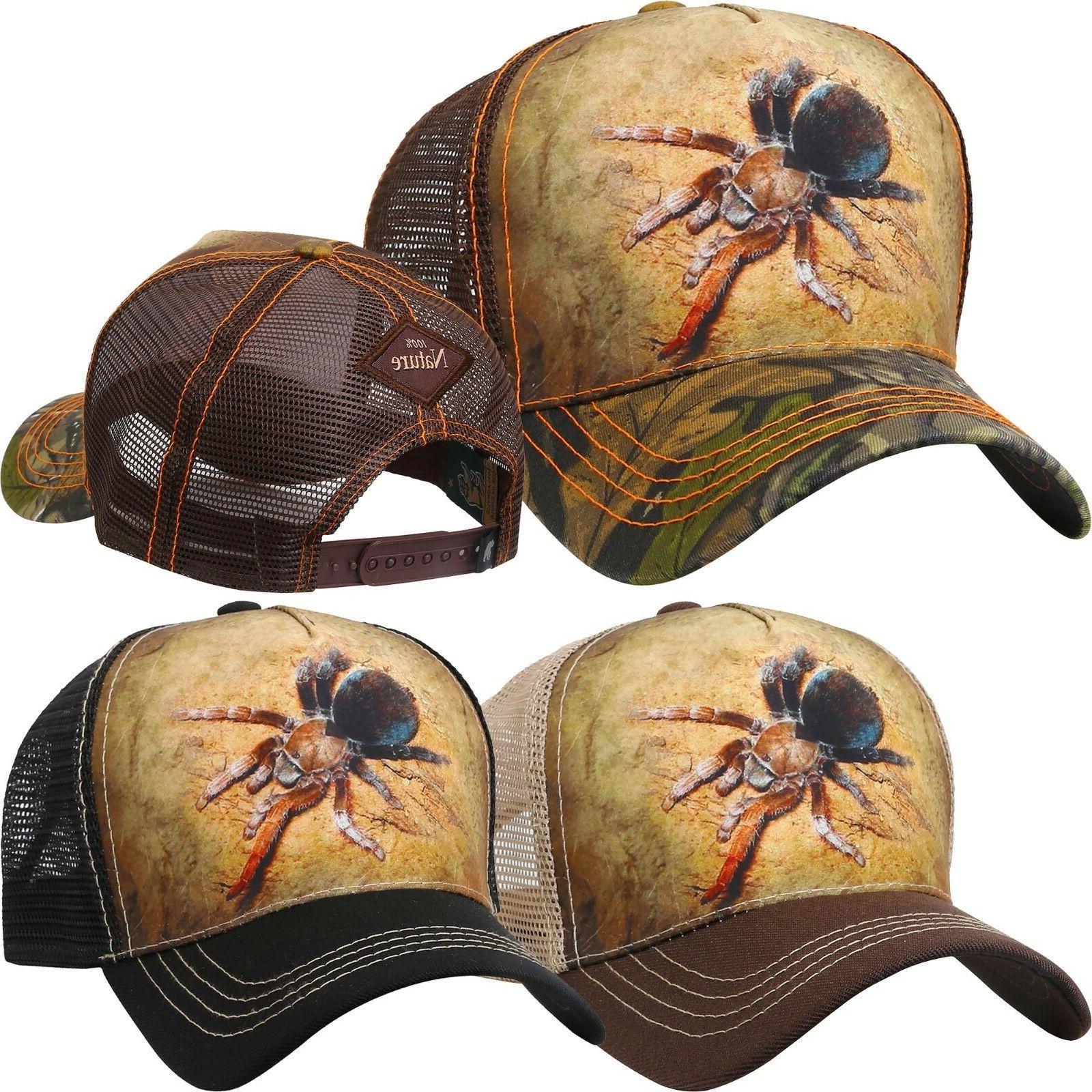 trucker hat animal tarantula baseball cap mesh
