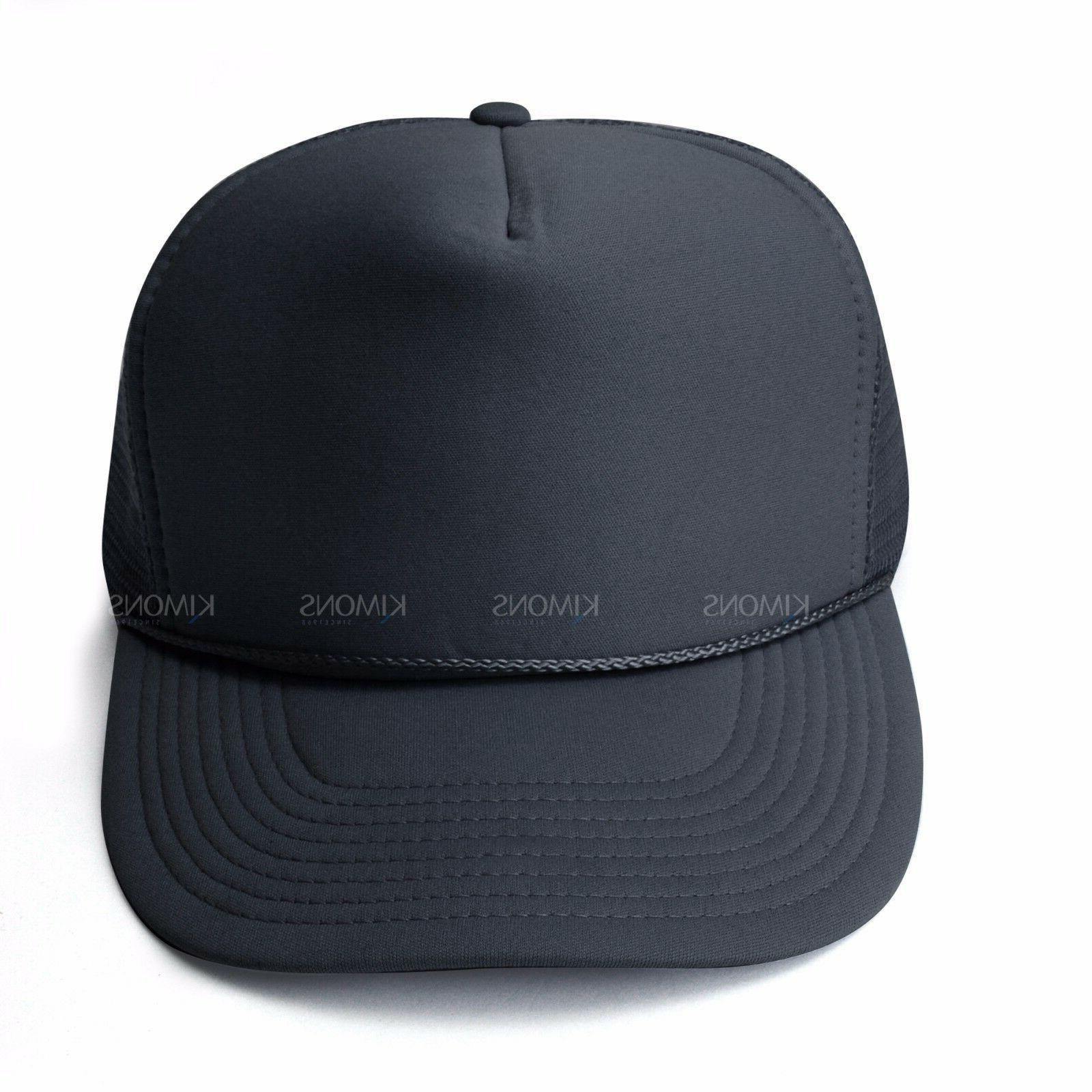 Trucker Hat Baseball Cap Adjustable Solid Dad
