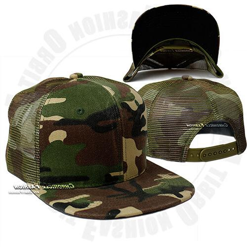 Trucker Snapback Visor Plain Hip Mens