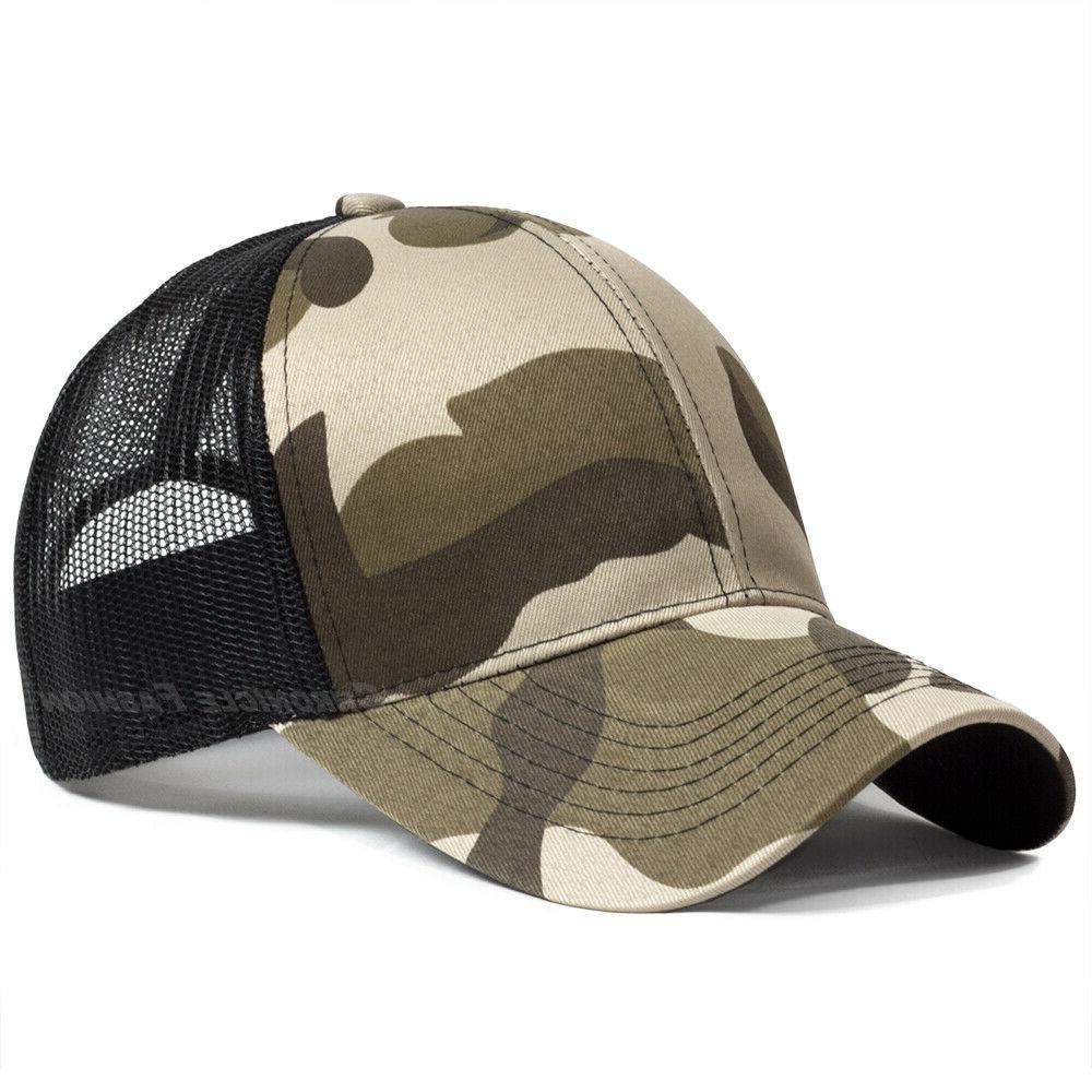 Trucker Hat Snapback Mesh Cap Solid Caps