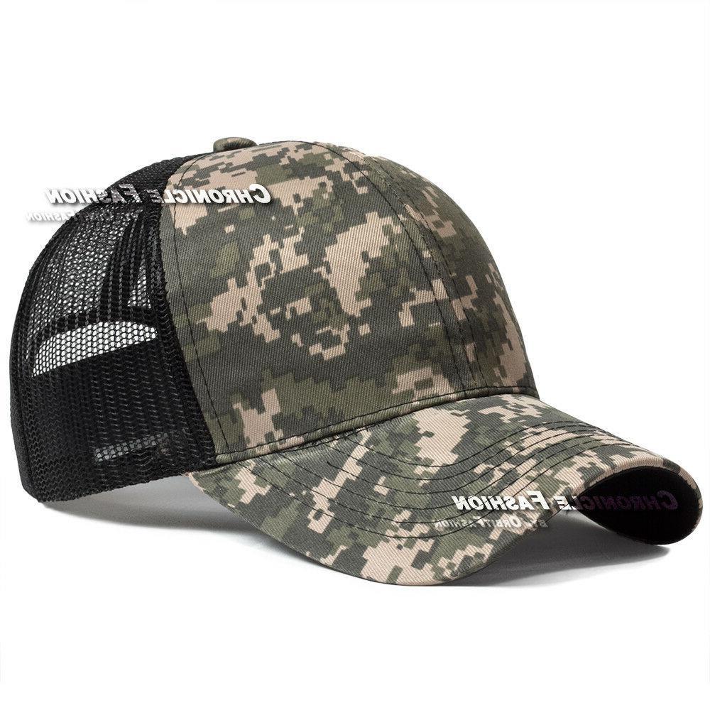 Trucker Snapback Mesh Solid Plain Caps