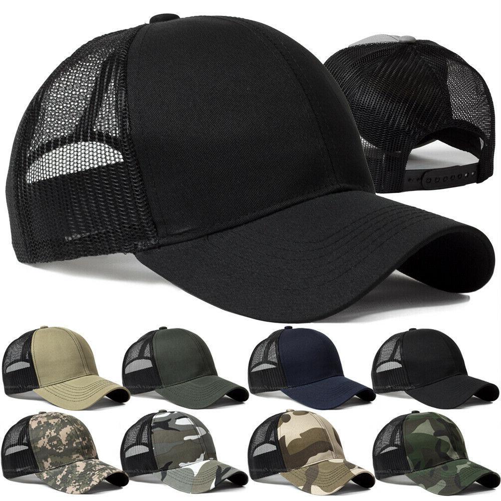 trucker hat snapback baseball mesh back cap