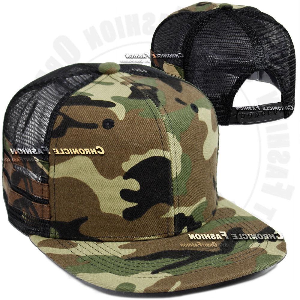 Trucker Hat Snapback Cap Flat Hip Mens