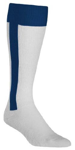 Twin City 2-In-1 Stirrup Socks Small White/Navy White|Navy S