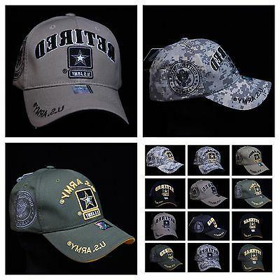 U S  Army Veteran Retired Baseball Cap Military H