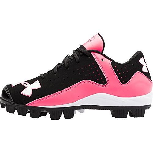 ua leadoff black cerise sneaker