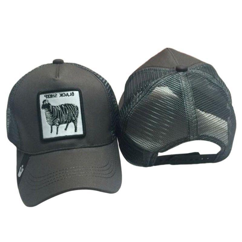 Unisex Animals Patch Baseball Cap Hop Snapback Mesh Hat Z