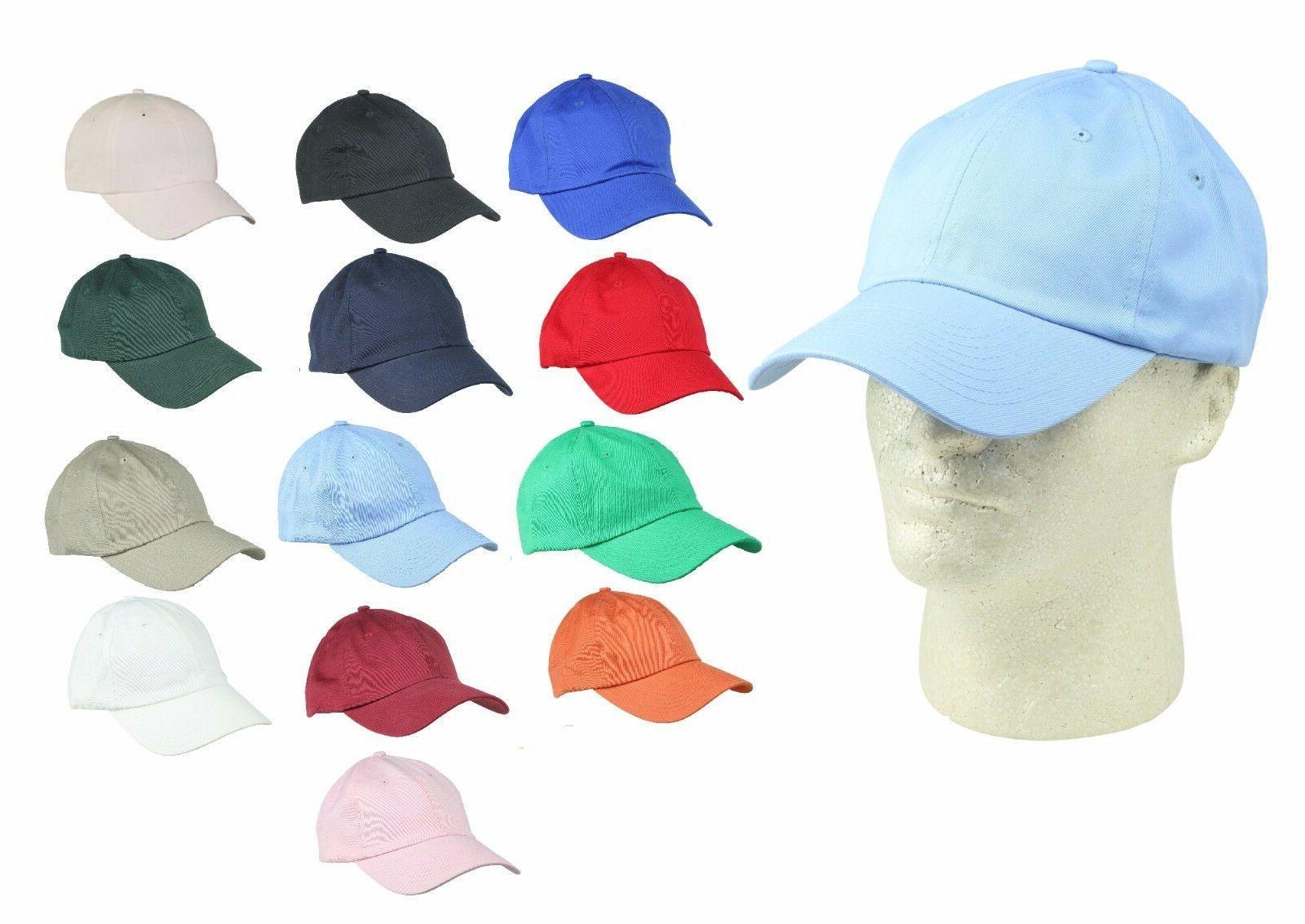 unisex cotton cap adjustable plain hat unstructured