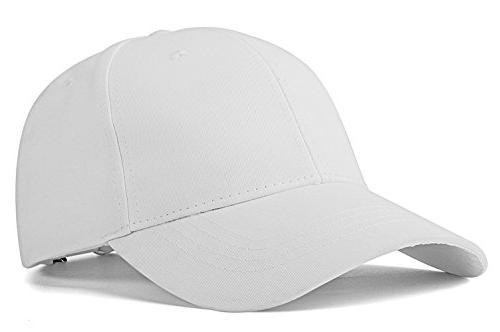 unisex plain easy adjustable baseball cap hat