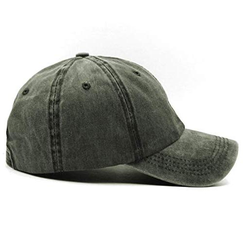Unisex Vintage Baseball Cap Adjustable Dad Green,One