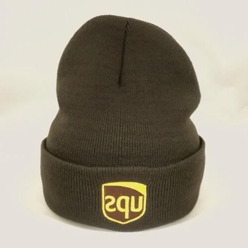 UPS Beanie Winter Hat Decky Custom Embroidery Cuffed ups Kni