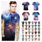 US Seller Men's 3d print Summer Short Sleeve Casual T-Shirts
