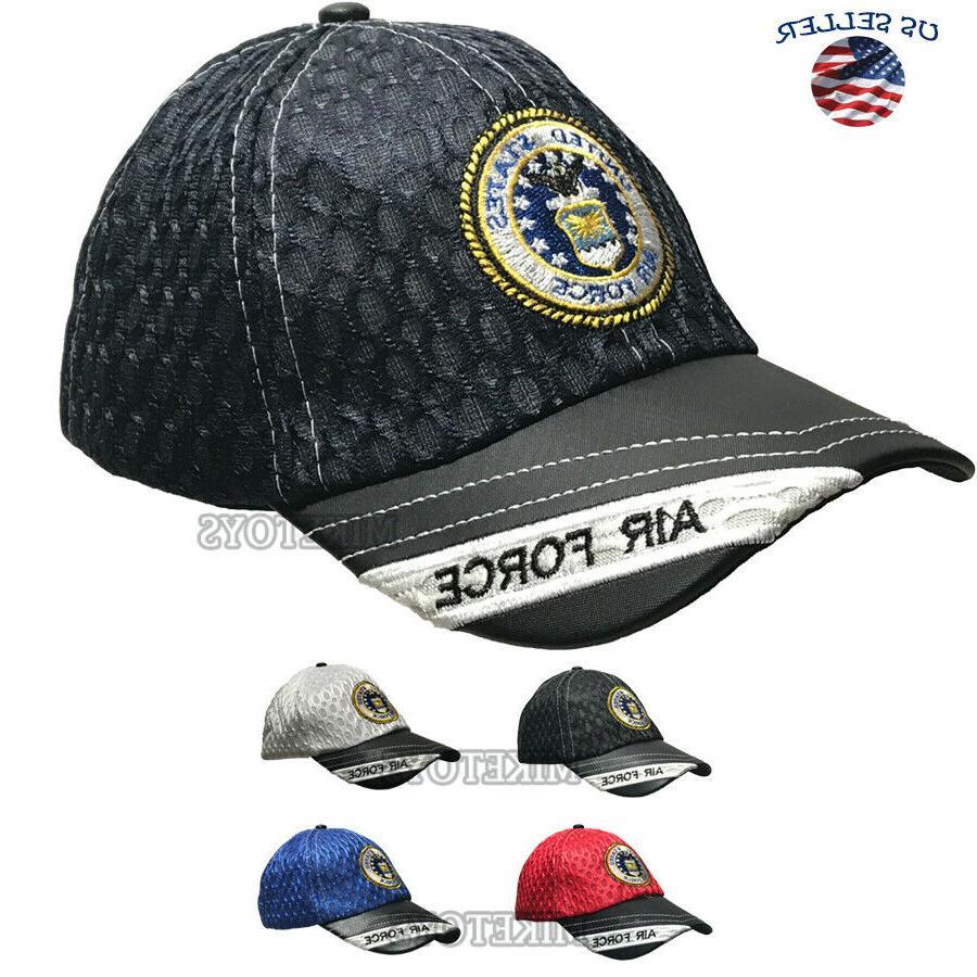 usa american air hat baseball mesh military