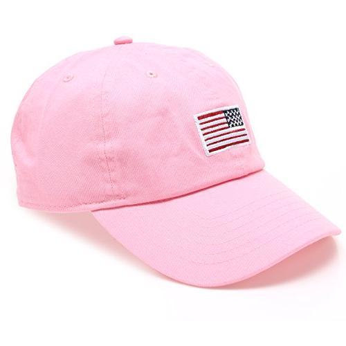 MIRMARU American Embroidered Adjustable Strap Cap Hat