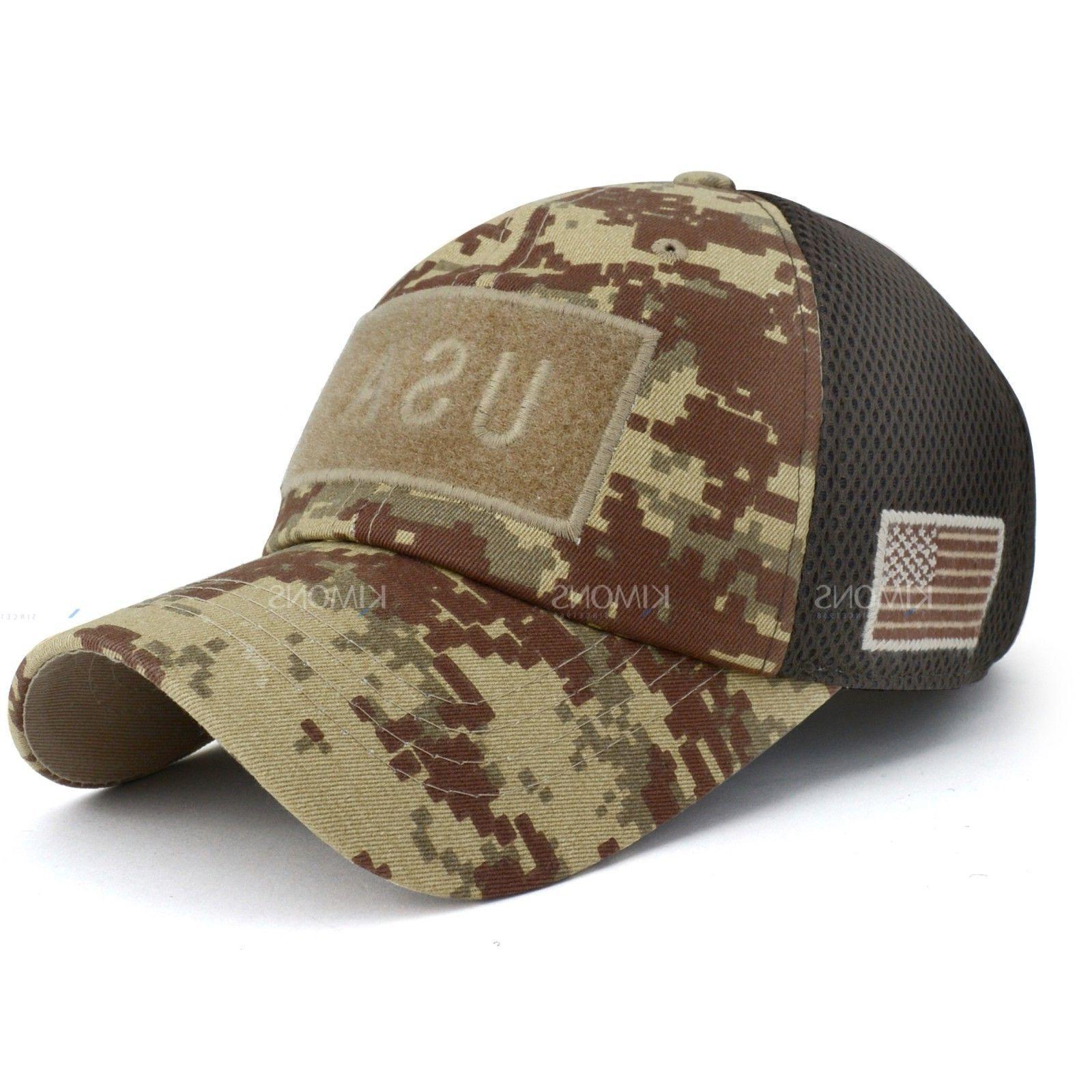 USA American Flag Detachable Military cap