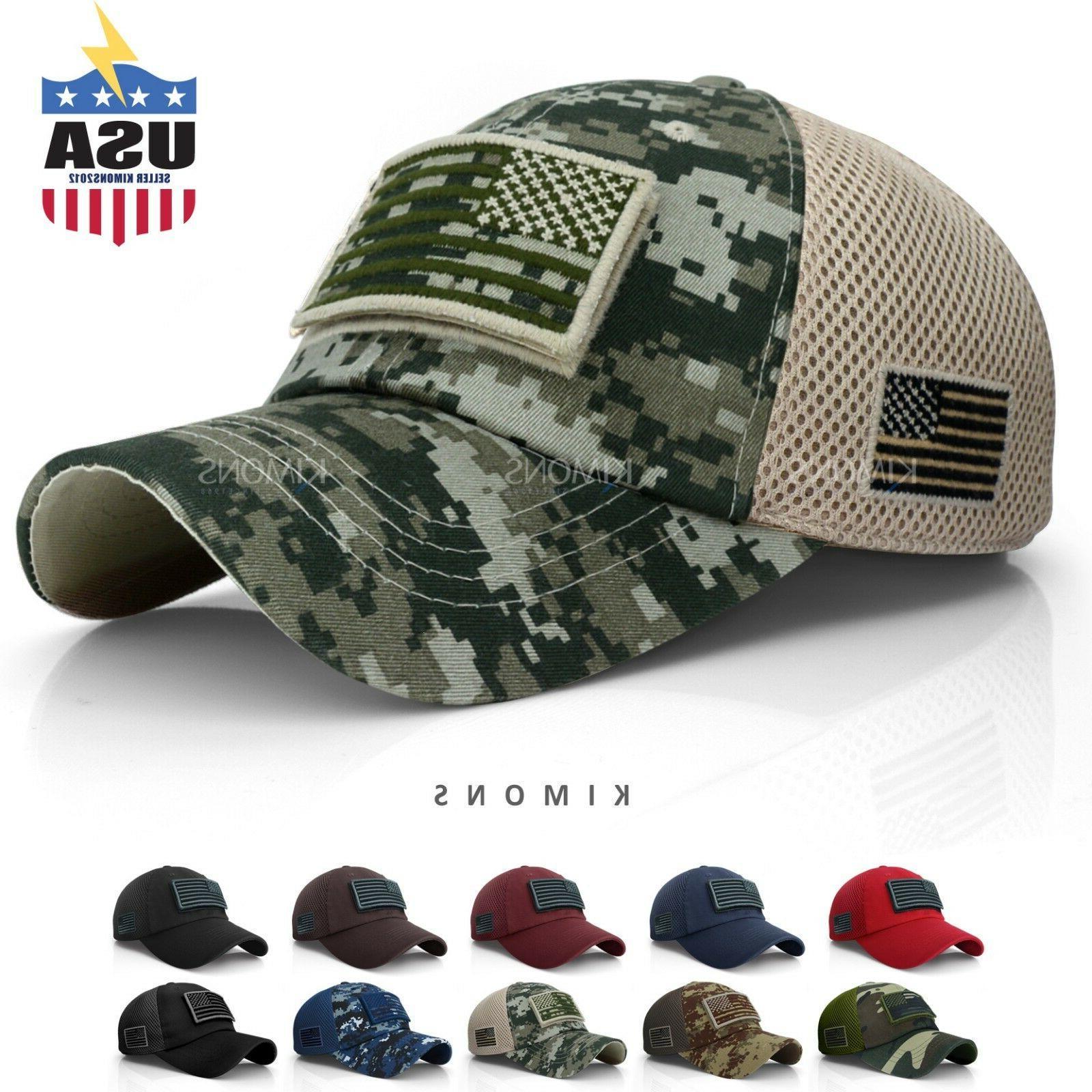 usa american flag hat detachable baseball mesh
