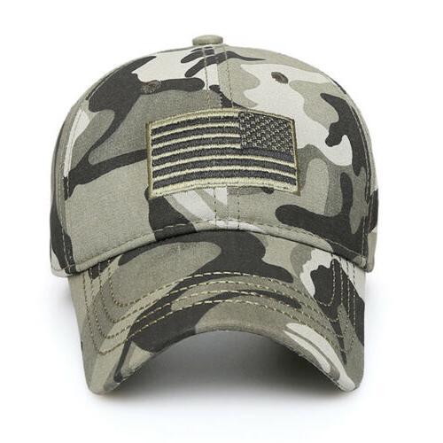 USA American Flag Baseball Cap Trucker Tactical Operator Army Camo Hat