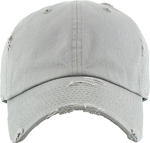 KBETHOS Cotton Hat Cap Adjustable Polo Trucker Unisex Gray Adjustable
