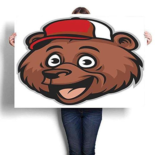 wall hangings cartoon cheerful bear